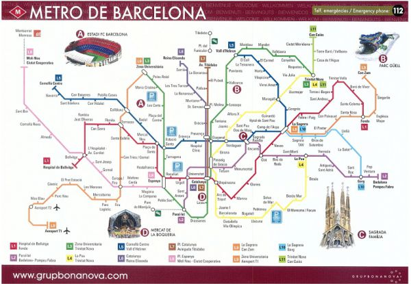 Metro Plan in Barcelona